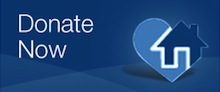 donate now blue button with HEART logo