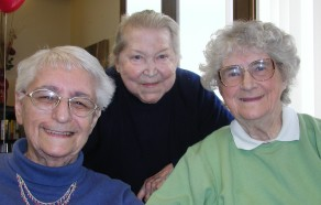 Catherine H., Ethel R. and Helen E. celebrate their homes at Ocean View senior housing in Pacifica